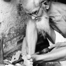 Craftsman Wearing Glasses Was Working @ India