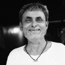 Man With Gray Stubble Smiles @ India