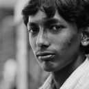 Piercing Gaze Of A Young Man @ India
