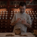 Man Preparing Chinese Medicine