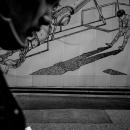 仮囲いに描かれたアートワーク