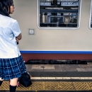 High School Girl On The Platform