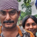 Man Wearing A Bandana And Bindi