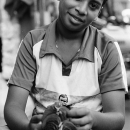 Boy And Betel Leaves @ India
