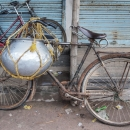 Bicycle With A Container @ India
