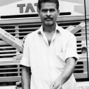 Man In Front Of A Truck