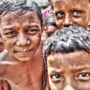 Eyes Of Frowned Children @ India