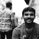 Man Smiles By The Wayside @ India