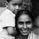 Mother And Her Shy Son @ India