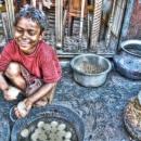 Boy Peeling Eggshells