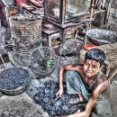 Boy Selling Coals @ India