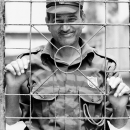 Smile Of A Security Guard @ India