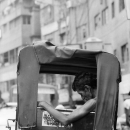Fugitive Resting On The Rickshaw @ India