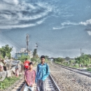 Two Boys On The Railway @ India