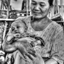 Grandma Holding A Baby @ Myanmar