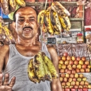 Man And Dangly Bananas