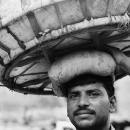Big Basket On His Head @ India