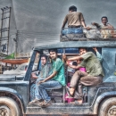 People On The Jeep @ India