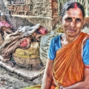 Woman With Sindoor And Bindi In The Market