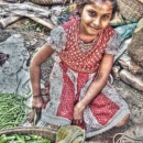 Okra And Girl @ India