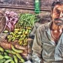 Man Selling Cucumbers @ India
