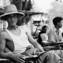Man Wearing A Hat @ Myanmar
