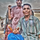 Two Men On A Rickshaw @ India