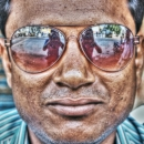Man With Sunglasses @ India