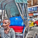 Rickshaw And Man