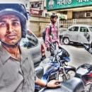 Man Wearing A Helmet @ India