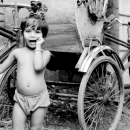 Cycle Rickshaw And Girl @ India