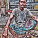 Man Wearing A Lungi @ India