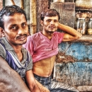 Two Men In A Chai Stand