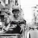 Peace Sign On The Cyclo @ Vietnam