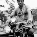 Man And Tricycle @ India