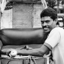 Bashful Smile Of A Rickshaw Wallah