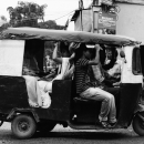 Loaded Auto Rickshaw