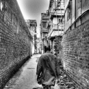 Man Entering Into The Lane