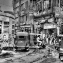 Tram And Autorickshaws