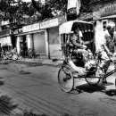 Cycle Rickshaw Passing By