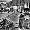 生姜を売る男