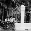 A Motorbike And Two Men @ Vietnam
