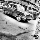 Man At A Crossing @ India
