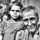 Girl And Grandpa @ India