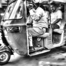 Speeding Auto Rickshaw