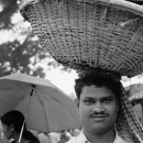 Man With A Big Basket @ India