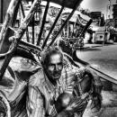 Resting Old Rickshaw Wallah