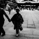 Silhouette Wearing Kimono In Kanda Myojin