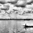 A Boat On The Hooghly River @ India