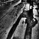 Shadow Of A Cycle Rickshaw @ India